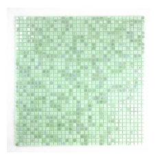 Miseno Comet Glass Visual Wall Tile Sheet, Light Green