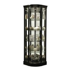 Howard Miller Marlowe II Black Satin Curio Cabinet