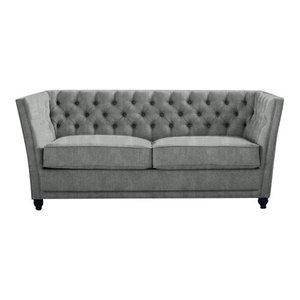 Disraeli Chesterfield Sofa Bed, Stone, 2 Seater, 113x183 cm