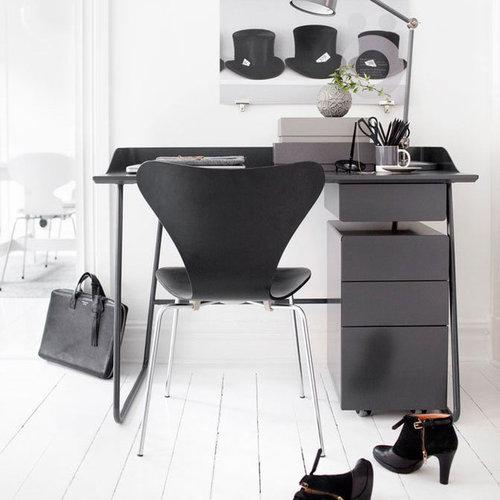 Overtime Skrivbord Litet Med Låda, Grafit - Skriveborde