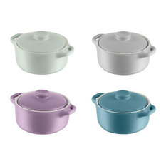 Swan - Mini Round Casserole Dishes, Set of 4 - Casserole Dishes