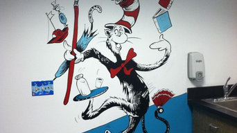 Dr. Seuss Cat in the Hat Mural
