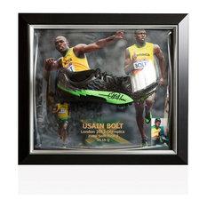 Bubble Framed Usain Bolt Signed Training Running Spike