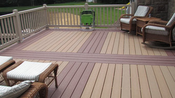 Walk out basement deck