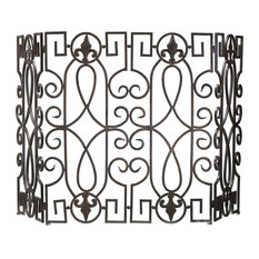 Cyan Design Rustic Iron Fireplace Wrought Iron Fire Screen - 00769
