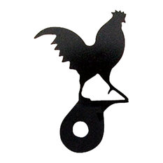 Village Wrought Iron Home Decor Accent Cabinet Door Rooster Silhouette
