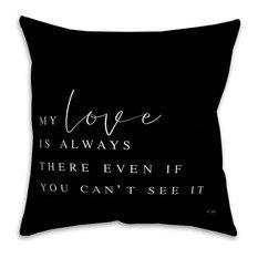 Jaxn Blvd My Love is Always There Spun Poly Pillow, 16x16