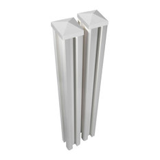 6'x4.5in W Premium Vinyl Posts w/ Caps (2 pack)