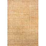 nuLOOM - Hand Woven Natural Solid Jute Rug, Natural, 8'x10' - Add a statement piece to your home with this Hand Woven Natural Solid Jute Rug. Features Include: Style: Natural Fibers, Solid & Striped Material: 100% Jute Weave: Hand Woven Origin: India