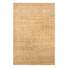 Hand Woven Natural Solid Jute Oversized Rug