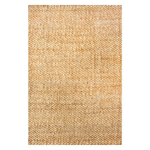 Hand Woven Natural Solid Jute Oversized Rug, Natural, 10'x14'
