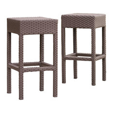 GDFStudio - Rudolfo 2-Piece Outdoor Backless Bar Stools - Outdoor Bar Stools and Counter Stools