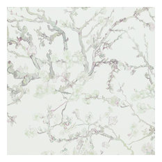 Blossoming Almond Trees Wallpaper, Pastel, Sample