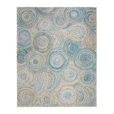 Safavieh Cape Cod Collection CAP602 Rug, Natural/Blue, 8'x10'