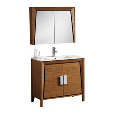 "Fine Fixtures Imperial II Collection, Wheat, 36"", Vanity With Medicine Cabinet"