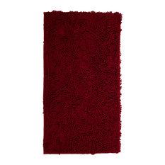 """Lavish Home High Pile Shag Rug Carpet, 21x36"""", Burgundy"""