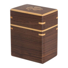 Dark Brown Cartan Wood Playing Cards Box