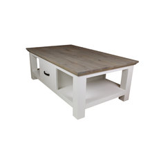 Provence Coffee Table With Drawer, Grey Oak