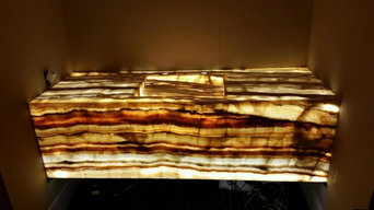 Backlit Onyx Counter
