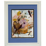 "Nature Artist - Windy Day II, Oshibana Art - * Oshibana (pressed plants) artwork in a 12"" x 15"" white frame."