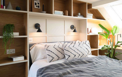 UK Attic Converted Into a Bedroom & Bathroom With Storage & Style