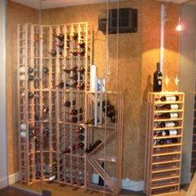 Celliers et caves à vin en verre
