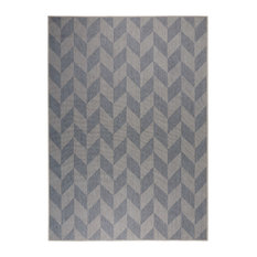 "Patio Country Blue/Gray 7'9""x10'2"" Area Rug"