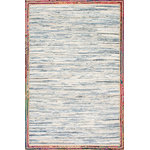 nuLOOM - Handwoven Braided Border Denim Rag Area Rug, Light Blue, 5'x8' - Made from the finest materials in the world and with the uttermost care, our rugs are a great addition to your home.