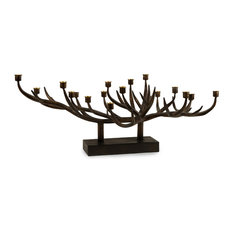 IMAX Worldwide Home - Tree Branch Iron Metal Taper Candle Holder Centerpiece - Candleholders