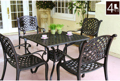 At All On The Table Or Chairs We Thought About Getting One Of Ones With Tiles But Since Can Break Easily Went Aluminum