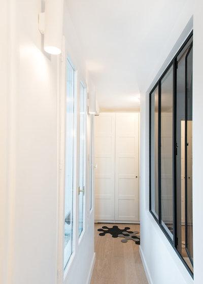 visite priv e un duplex de 60 m fait peau neuve paris. Black Bedroom Furniture Sets. Home Design Ideas