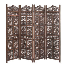 "GwG Outlet Wooden 4 Panel, Screen 80""x72"""