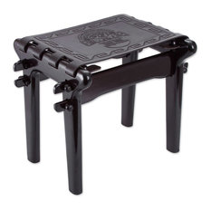 Nobility Tornillo Wood and Leather Stool
