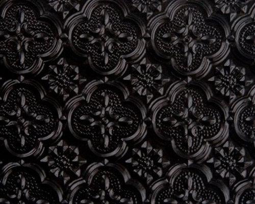 Faux tin backsplash rolls for Black tin backsplash