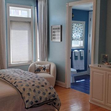 Coastal Guest Bedroom and Bath