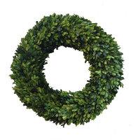 "Boxwood Country Manor Round Wreath 20"""