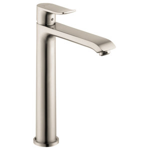 Metris Single-Handle Lavatory Faucet With Lever Handle, Brushed Nickel