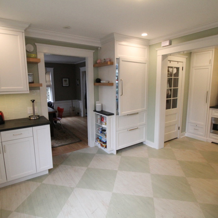 Center Hall Colonial Renovated Kitchen and Pantry