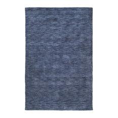 "Solid/Striped Renaissance Area Rug, Rectangle, Blue, 5'x7'6"""
