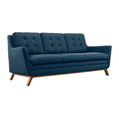 Modway   Modern Contemporary Fabric Sofa, Azure, Fabric   Sofas