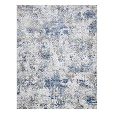 Ramiro Contemporary Abstract Indigo & Gray Rectangle Area Rug, 8'x10'