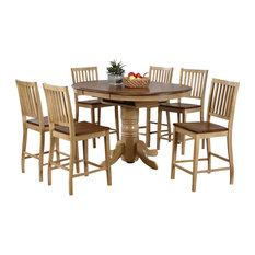 Sunset Trading   7 Piece Round Extension Dining Set   Dining Sets