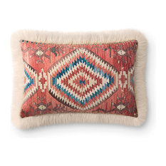 Loloi Multi Color 13  x21   Accent Pillow, Ivory, Poly Fill