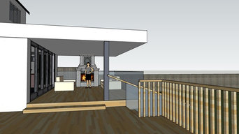Covered Outdoor Patio with outside Fire place