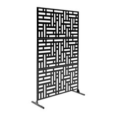 Alta Decorative Screen With Stand, Blocks