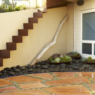 Design ideas for a coastal courtyard stone landscaping in San Luis Obispo.