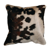 """Natural Torino Cowhide Pillow 18""""x18"""" Tricolor"""
