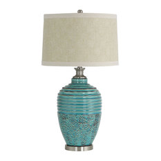 Aspire Home Accents, Inc.   Beta Ceramic Table Lamp, Teal   Table Lamps