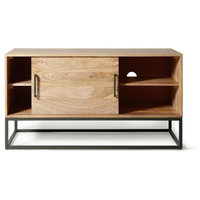 Ashton Industrial Metal and Wood Media Cabinet