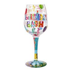 """Birthday Bash"" Wine Glass"